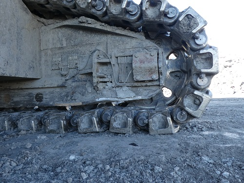 Rope Shovel and Hydraulic Undercarriage