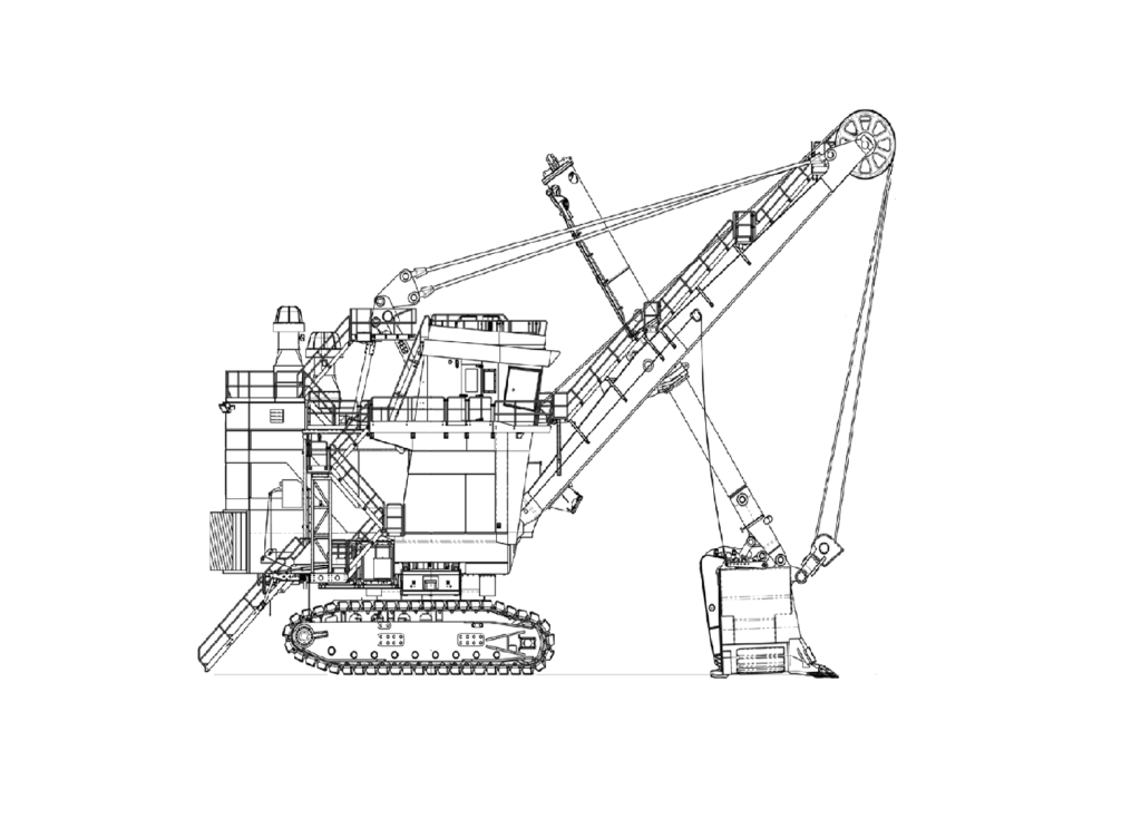 Mining Shovel Sketch